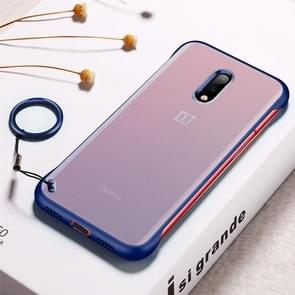 Frosted Anti-skidding TPU Protective Case with Metal Ring for OnePlus 7(Blue)