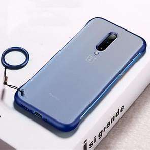 Frosted Anti-skidding TPU Protective Case with Metal Ring for OnePlus 7 Pro(Blue)
