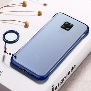 Frosted anti-skidding TPU beschermhoes met metalen ring voor Huawei mate 20 Pro (blauw)
