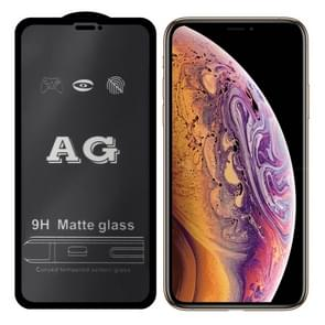 AG matte Frosted volledige cover gehard glas voor iPhone XS Max
