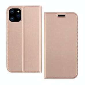 DZGOGO ISKIN serie lichte Frosted PU + TPU Case voor iPhone XI Max 2019 (Rose goud)