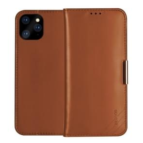 DZGOGO ROYALE Series Magnetic Horizontal Flip Genuine Leather Case with Card Slots & Holder For iPhone 11 Pro(Brown)