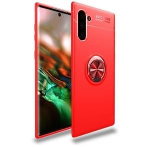 lenuo schokbestendig TPU case met onzichtbare houder voor Galaxy Note10 (rood)