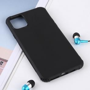 Solid Color Liquid Silicone Shockproof Case for iPhone XI (2019)(Black)