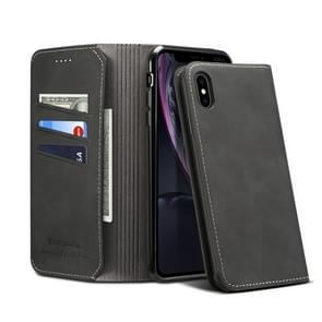 PU + TPU Horizontal Flip Leather Case with Holder & Card Slots & Wallet for iPhone X / XS(Black)