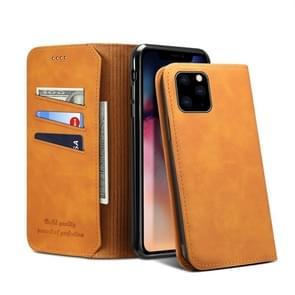PU + TPU horizontale Flip lederen draagtas met houder & card slots & Wallet voor iPhone XI Max (2019) (kaki)