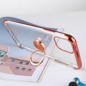 Schokbestendige TPU beschermhoes met houder voor iPhone XI Max (2019) (rosé goud)