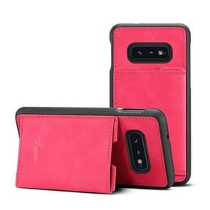 PU + TPU Protective Case with Card Slots for Galaxy S10 E(Rose Red)