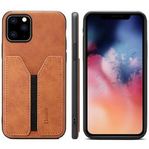 PU + TPU Protective Case with Card Slots for iPhone 11(Brown)