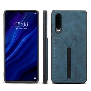 PU + TPU beschermhoes met kaartsleuven voor Huawei P30 (blauw)