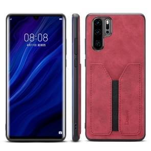 PU + TPU beschermhoes met kaartsleuven voor Huawei P30 Pro (rood)
