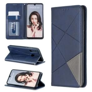 Rhombus Texture Horizontal Flip Magnetic Leather Case with Holder & Card Slots For Huawei P30 lite / nova 4e(Blue)