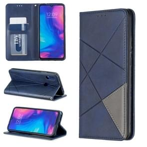 Rhombus Texture Horizontal Flip Magnetic Leather Case with Holder & Card Slots For Xiaomi Redmi Note 7(Blue)