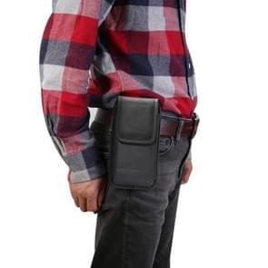 Multi-functionele universele verticale Oxford doek nylon stof taille tas met kaartsleuf voor 5 3 inch of onder smartphones (zwart)
