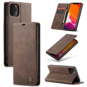 CaseMe-013 multifunctionele horizontale Flip lederen draagtas met kaartsleuf & houder & Wallet voor iPhone XI (2019) (koffie)