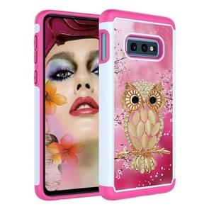 Coloured Drawing Pattern PC + TPU Protective Case for Galaxy S10 E(Shell Owl)