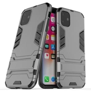 Shockproof PC + TPU Case with Holder for 11(Grey)