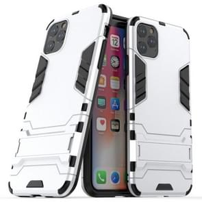 Shockproof PC + TPU Case with Holder for 11 Pro Max(Silver)