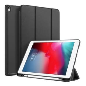 DUX DUCIS OSOM SERIES Three-folding Horizontal Flip Leather Case with Pen Slots for iPad Pro 10.5 inch / Air 3 (2019)(Black)