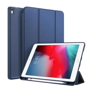 DUX DUCIS OSOM SERIES Three-folding Horizontal Flip Leather Case with Pen Slots for iPad Pro 10.5 inch / Air 3 (2019)(Blue)