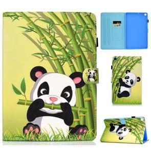 Colored Drawing Pattern Horizontal Flip PU Leather Case with Holder & Card Slots For Galaxy Tab A 10.1 (2019) / T510 / T515(Panda)
