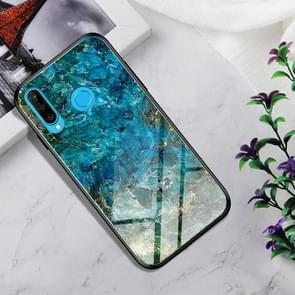 Schokbestendig gehard glas + TPU Case voor Huawei P30 Lite (Emerald)