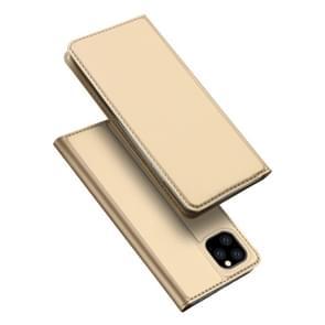 DUX DUCIS Skin Pro serie schokbestendig horizontale Flip lederen draagtas met houder & card slots voor iPhone XI Max (2019) (goud)
