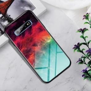 Shockproof Tempered Glass + TPU Case For Galaxy S10+(Colorful Nebula)