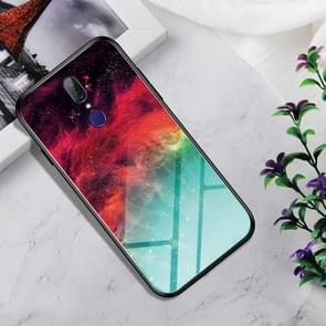 Shockproof Tempered Glass + TPU Case For OPPO A9(Colorful Nebula)