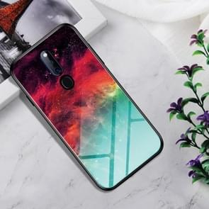 Shockproof Tempered Glass + TPU Case For OPPO F11 Pro(Colorful Nebula)