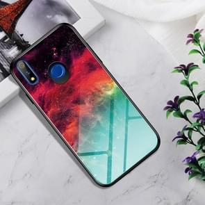 Shockproof Tempered Glass + TPU Case For OPPO Realme X(Colorful Nebula)