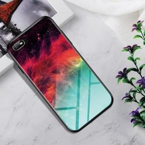 Shockproof Tempered Glass + TPU Case For OPPO A1k(Colorful Nebula)