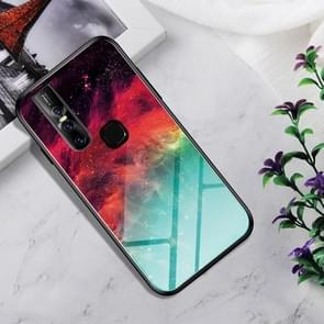 Shockproof Tempered Glass + TPU Case For Vivo V15(Colorful Nebula)