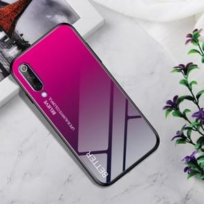 Shockproof Tempered Glass + TPU Case For Xiaomi Mi 9(Rose Red)