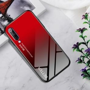 Shockproof Tempered Glass + TPU Case For Xiaomi Mi 9(Black Red)