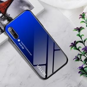Shockproof Tempered Glass + TPU Case For Xiaomi Mi 9(Black Blue)