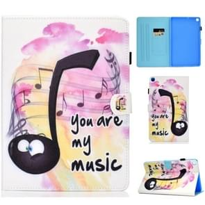 Colored Drawing Pattern Horizontal Flip PU Leather Case with Holder & Card Slots & Sleep / Wake-up Function for Galaxy Tab S5e 10.5 / T720 / T725(Music Symbol)