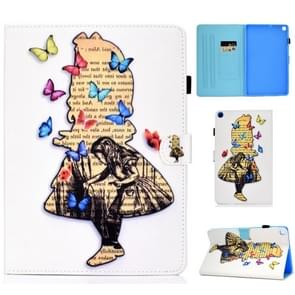 Colored Drawing Pattern Horizontal Flip PU Leather Case with Holder & Card Slots For Galaxy Tab A 10.1 (2019) / T510 / T515(Girl)