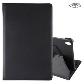 Litchi Texture Horizontal Flip 360 Degrees Rotation Leather Case for Galaxy Tab S6 T860, with Holder(Black)