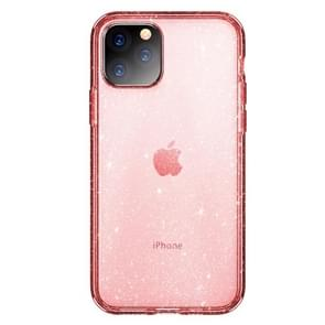 ROCK Shiny Series Shockproof TPU + PC Protective Case For iPhone 11(Transparent Pink)
