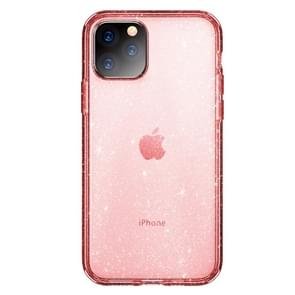 ROCK Shiny Series Shockproof TPU + PC Protective Case For iPhone 11 Pro Max(Transparent Pink)