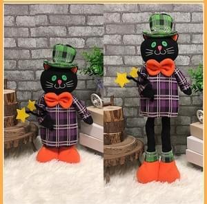 CX189001 Halloween intrekbare pop Ghost partij prop decoratie (zwarte kat)