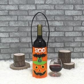 CX189002 Halloween decoratieve restaurant creatieve Ghost pompoen gift wijn fles cover (pompoen)