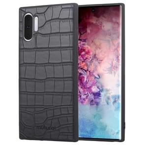 Mutural All-inclusive Crocodile Texture PU + TPU Case For Galaxy Note10(Black)