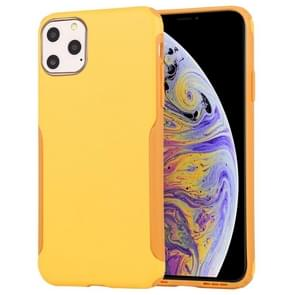 Mutural Protector Series All-inclusive Ultra-thin TPU + PC Case For iPhone 11 Pro(Yellow)