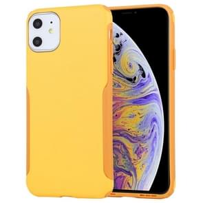 Mutural Protector Series All-inclusive Ultra-thin TPU + PC Case For iPhone 11(Yellow)