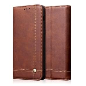 Casual Style Retro Crazy Horse Texture Horizontal Flip Leather Case with Card Slots & Holder & Wallet for Galaxy Note 10+(Dark Brown)