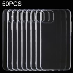 50 PCS 0.5mm Ultra-Thin Transparent TPU Protective Case for iPhone 11