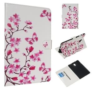 For Galaxy Tab A 10.5 / T590 Colored Drawing Pattern Horizontal Flip PU Leather Case with Holder & Card Slots(Butterfly Love Flower)