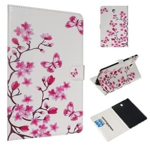 For Galaxy Tab S4 10.5 T830 / T835 Colored Drawing Pattern Horizontal Flip PU Leather Case with Holder & Card Slots(Butterfly Love Flower)
